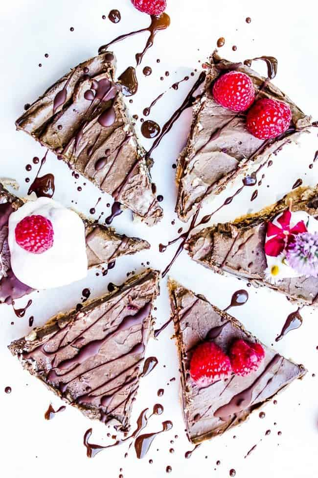 no bake raspberry chocoalte pie