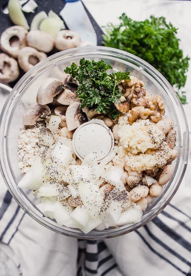 mushroom + bean meatballs