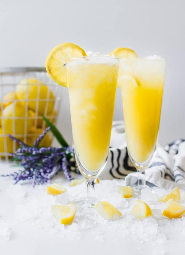 fresh squeezed mango lavender lemonade