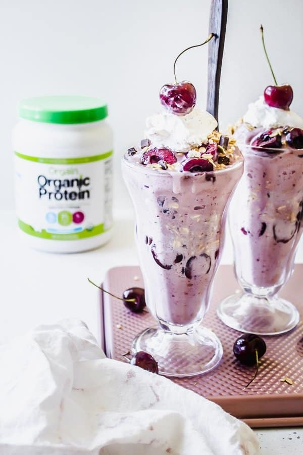 cherry pie protein nice cream sundaes