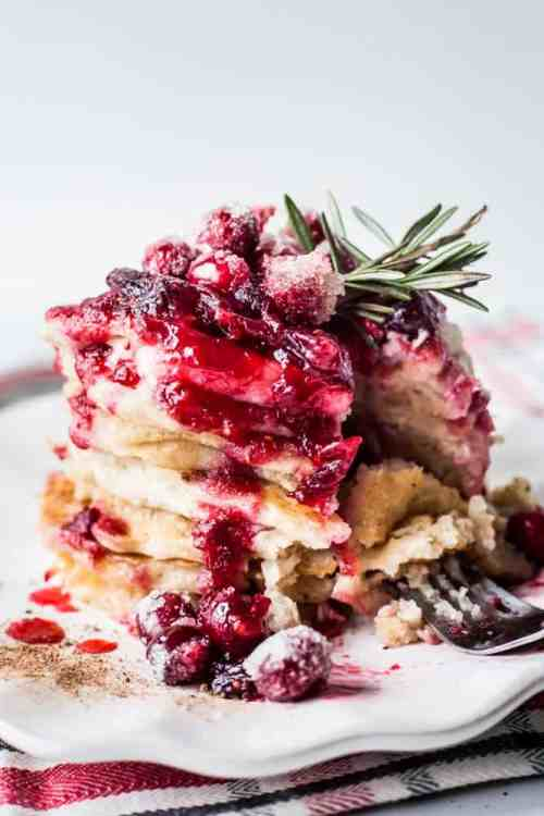 Holiday Nog Protein Pancakes