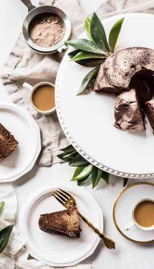 Chocolate Mocha Protein Cake