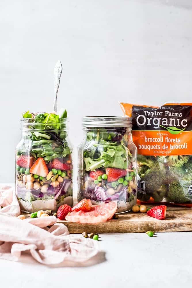 Spring Detox Salad Mason Jars