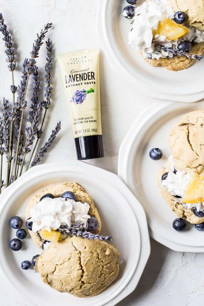 blueberry lavender dessert