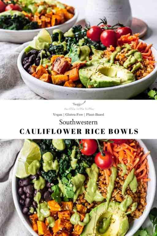 Southwestern Cauliflower Rice Bowls