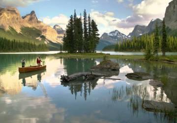 Maligne Lake, Spas of Alberta, Healthy Living + Travel