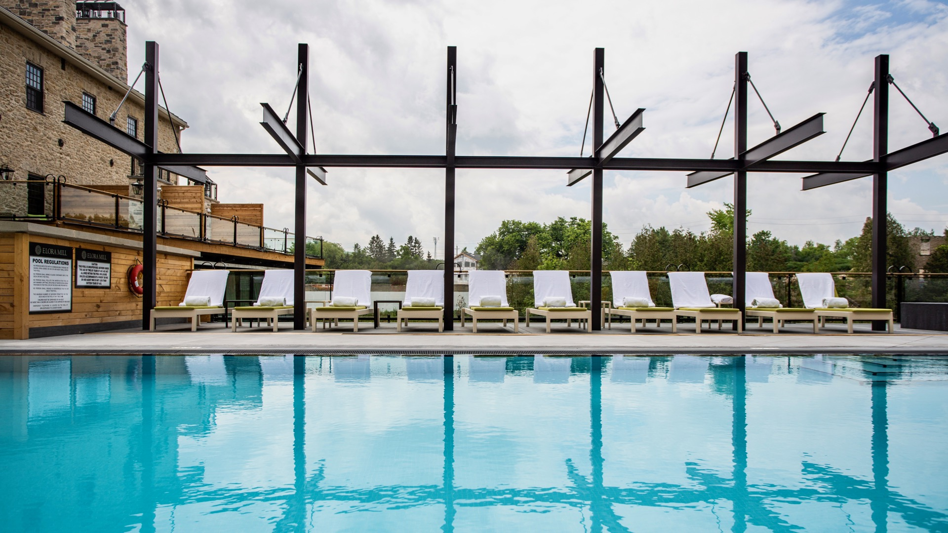 Pool, Elora Mill Hotel & Spa, Healthy Living + Travel