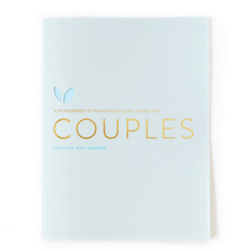 Couples Goal Guide | Cultivate What Matters | PowerSheets Intentional Goal Planner