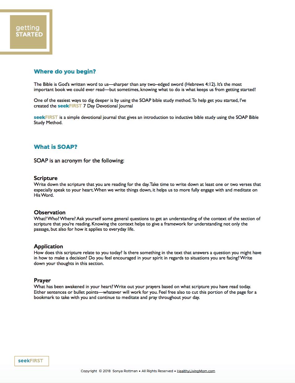 seekFirst Devotional Journal (Printable)