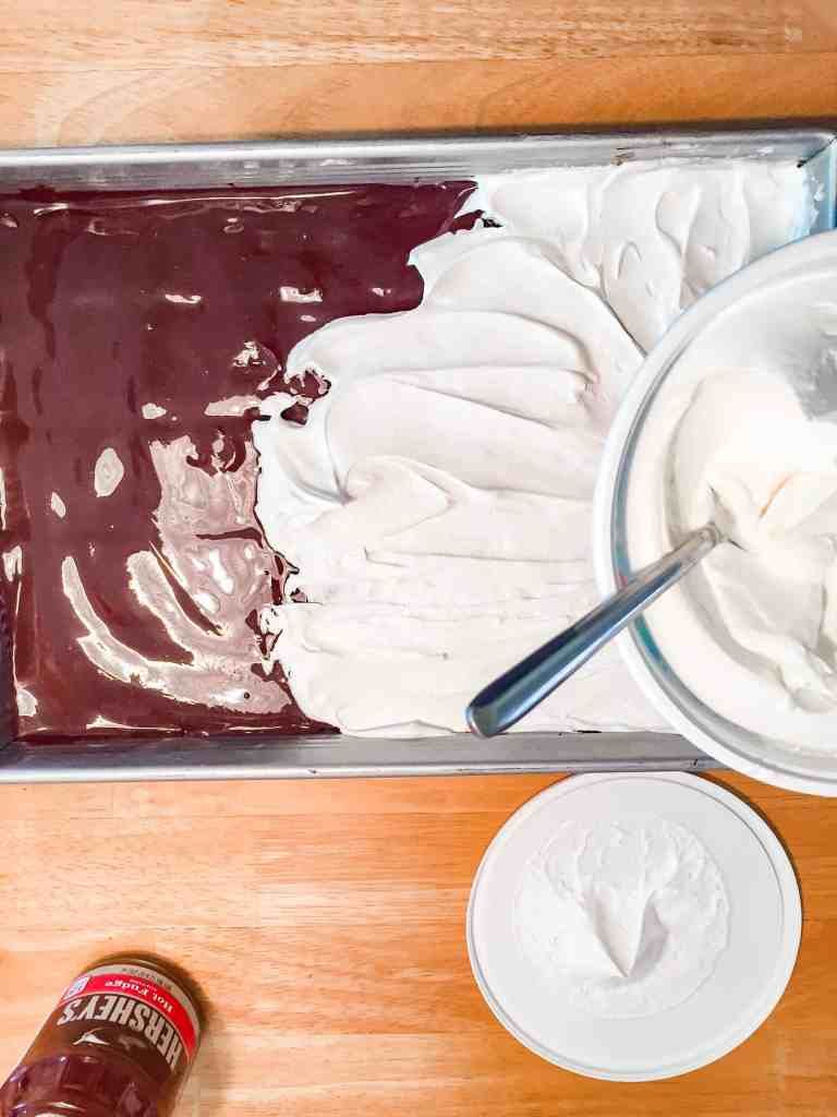 Easy Summer Dessert Recipe with hot fudge and cool whip!