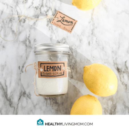 Lemon Sugar Scrub DIY (non toxic 3 ingredients) 2