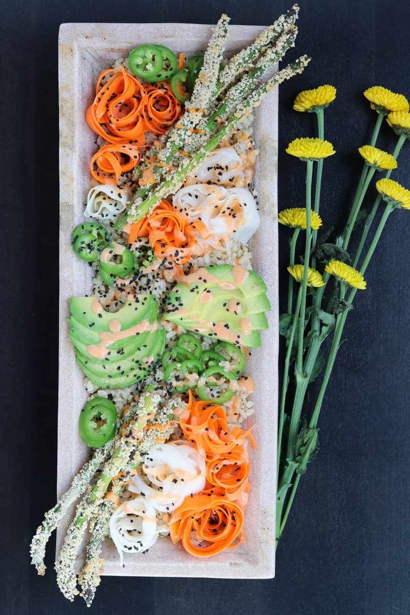 Crispy Spicy Sushi Bowls