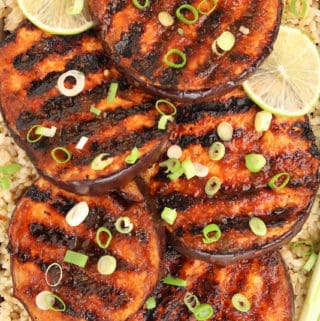 Sweet & Spicy Grilled Eggplant