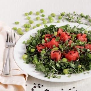 Watermelon Forbidden Rice Salad