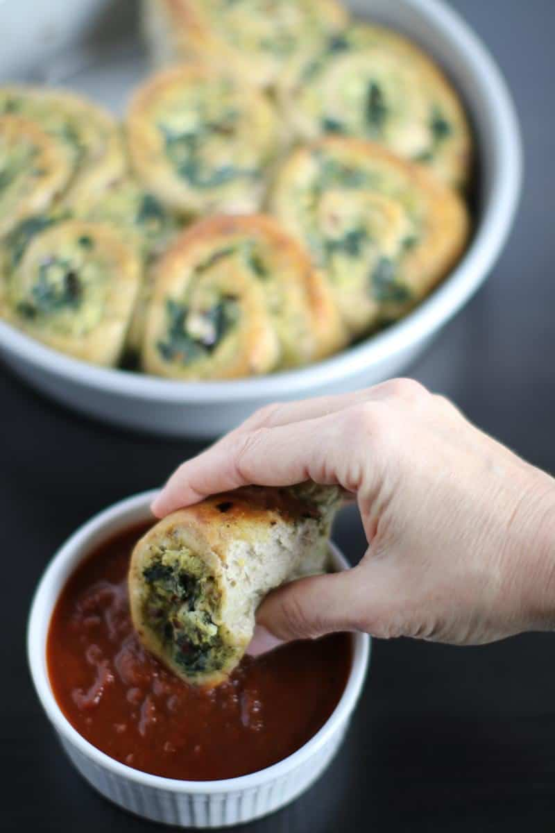Spinach & Cheese Pizza Rolls