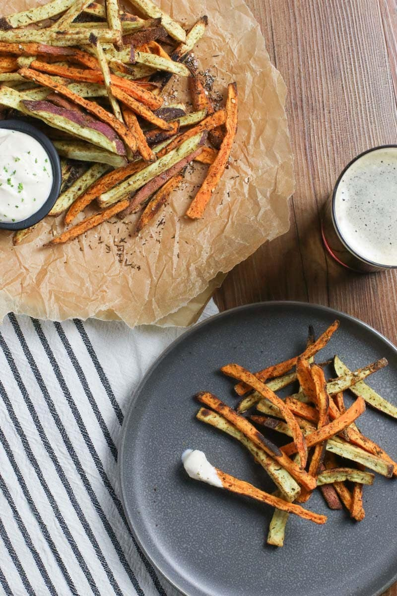 Oil Free Sweet Potato Fries