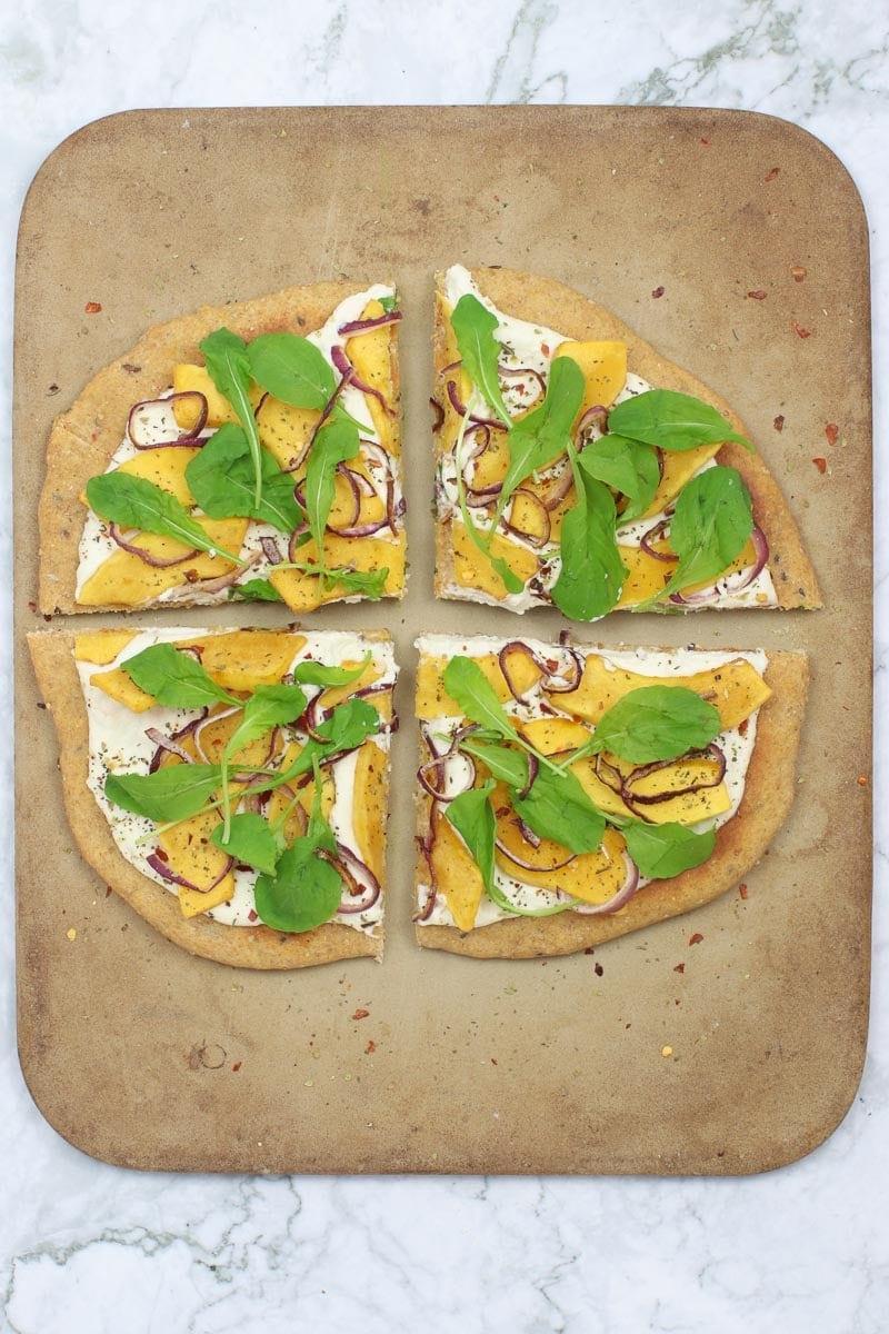 Roasted Squash Vegan White Pizza