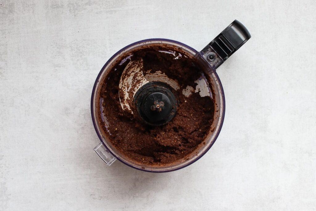 Mole paste in a food processor.