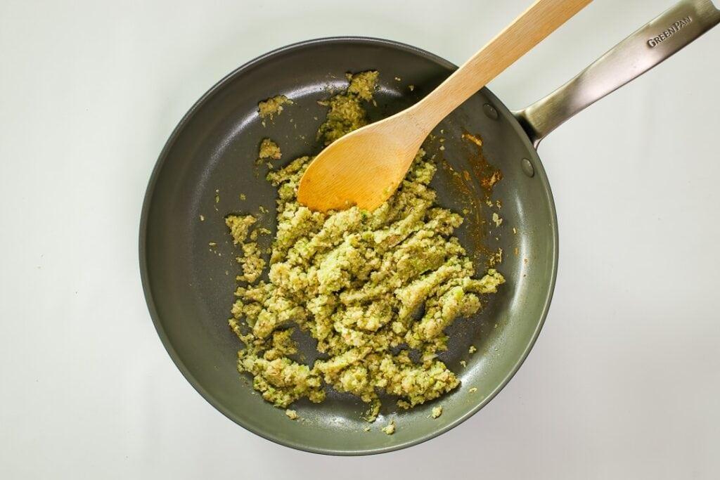 Saute the chopped veggies.