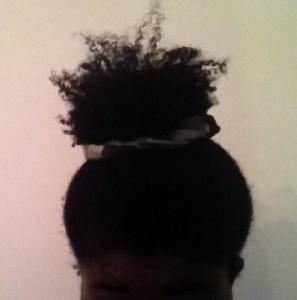 pineapple bun for natural hair