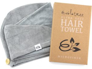 Evolatree Super Absorbent Anti-Frizz Microfiber Hair Towel