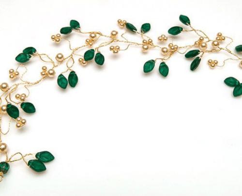hair accessory Emerald Green Hair Vine