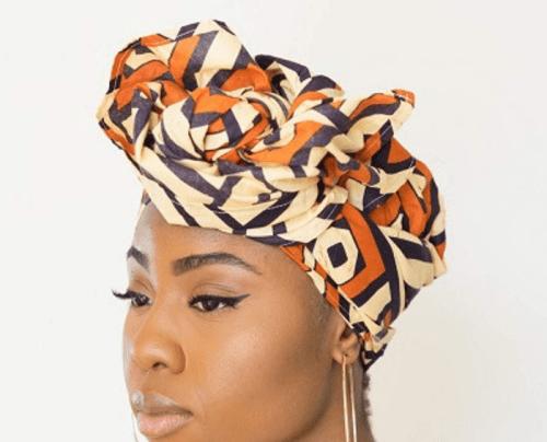 hair accessory Kuba Cloth Print African Headwrap