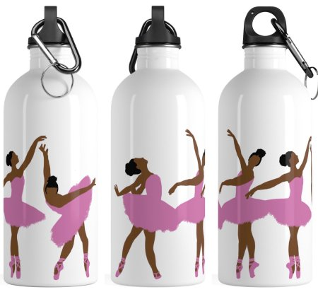 curly hair gift set, Black Girl Magic Ballerina Water Bottle