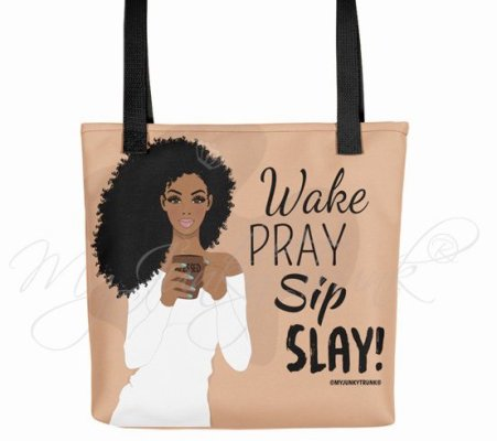 curly hair gift set, Natural Hair Tote Bag