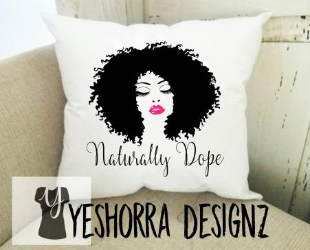 curly hair gift set, Naturally Dope Pillow