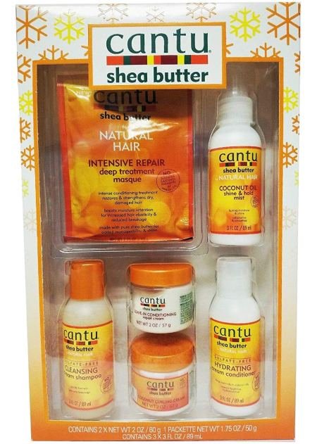 natural hair gifts, Cantu Shea Butter Limited Edition Curl Care Gift Set