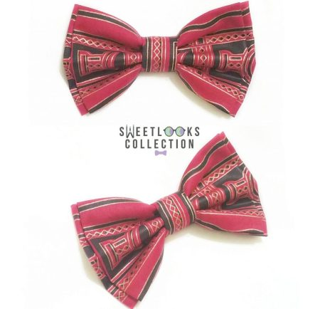 natural hair gifts for christmas, Red Black Gold Kente Print Hair Bow
