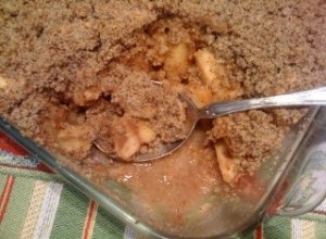 Dessert of Apple Crumble
