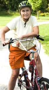 Terry Wahls on Bike