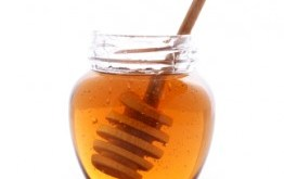 Honey in Clear Jar
