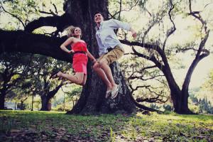 couple jump