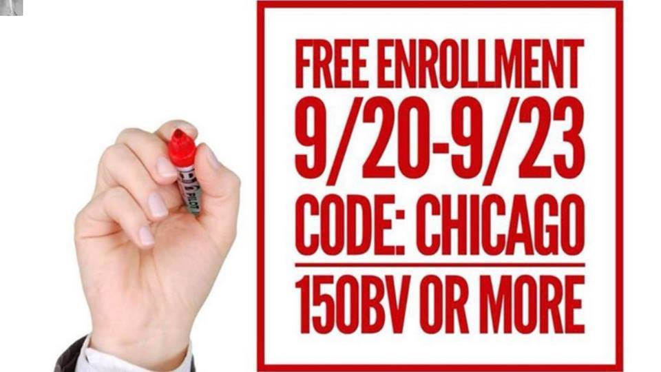 THREE DAY PROMO – Free Membership and other discounts to celebrate IsaU Chicago!