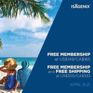 Ready to launch your results? FREE MEMBERSHIP and FREE SHIPPING April 8 to 21 for qualifying orders!
