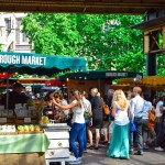 People walking in Borough Market
