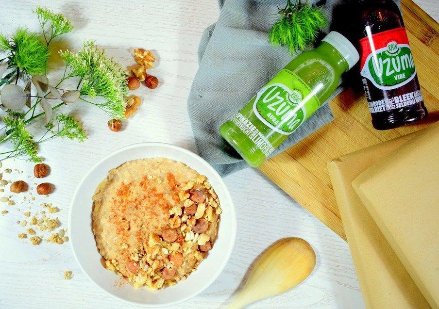 Sport ontbijt | Ontbijt met havermout en banaan | Ontbijt recept