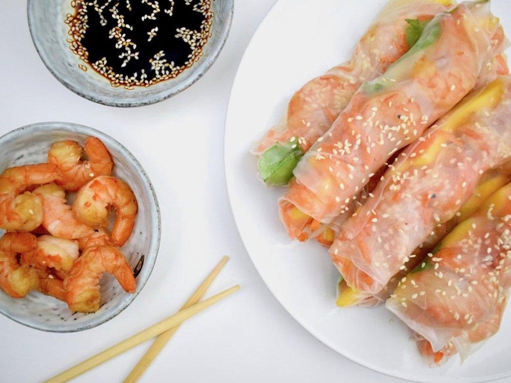 Spring rolls met garnalen   Gezond recept   Healthy Wanderlust