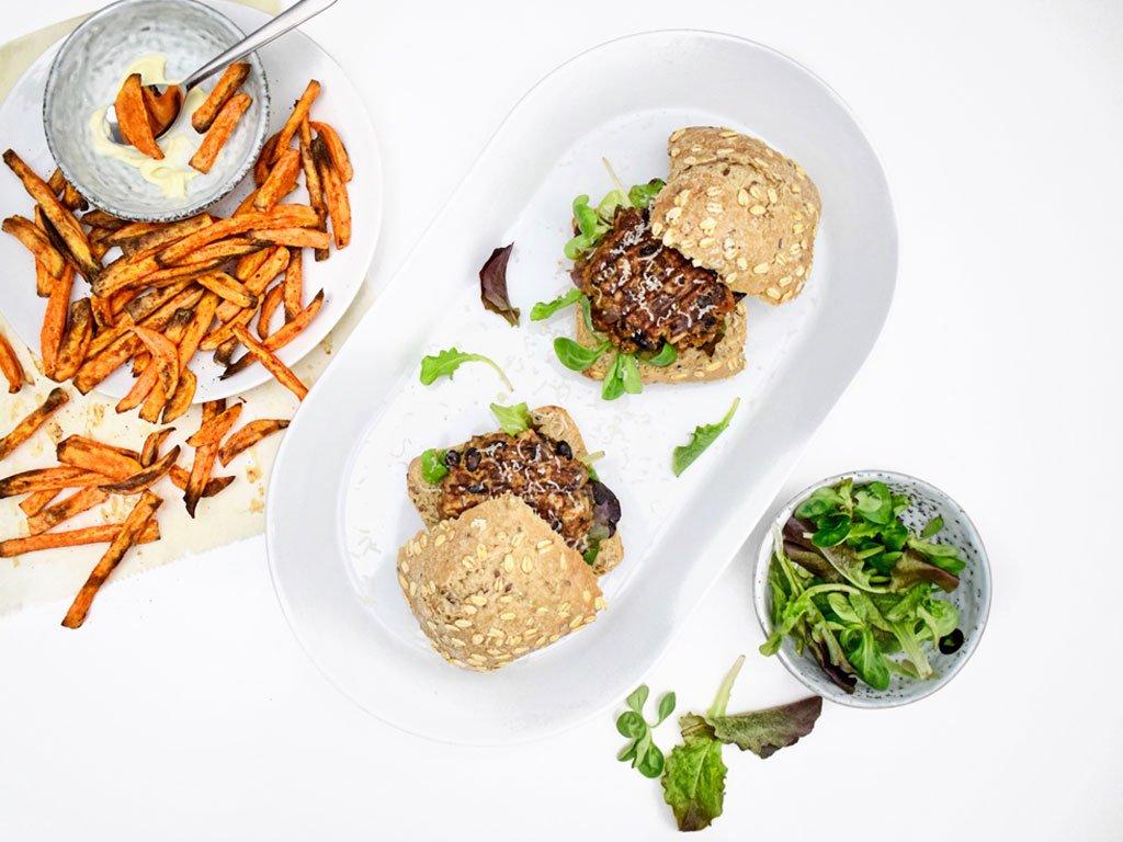 Paddenstoelenburger | Vegetarische burgers recept