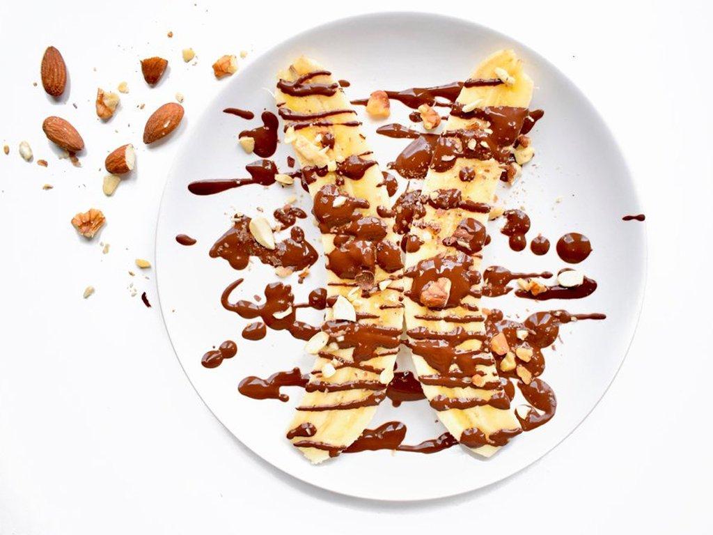 Bananensplit overnight oats   Ontbijt recept   Healthy Wanderlust