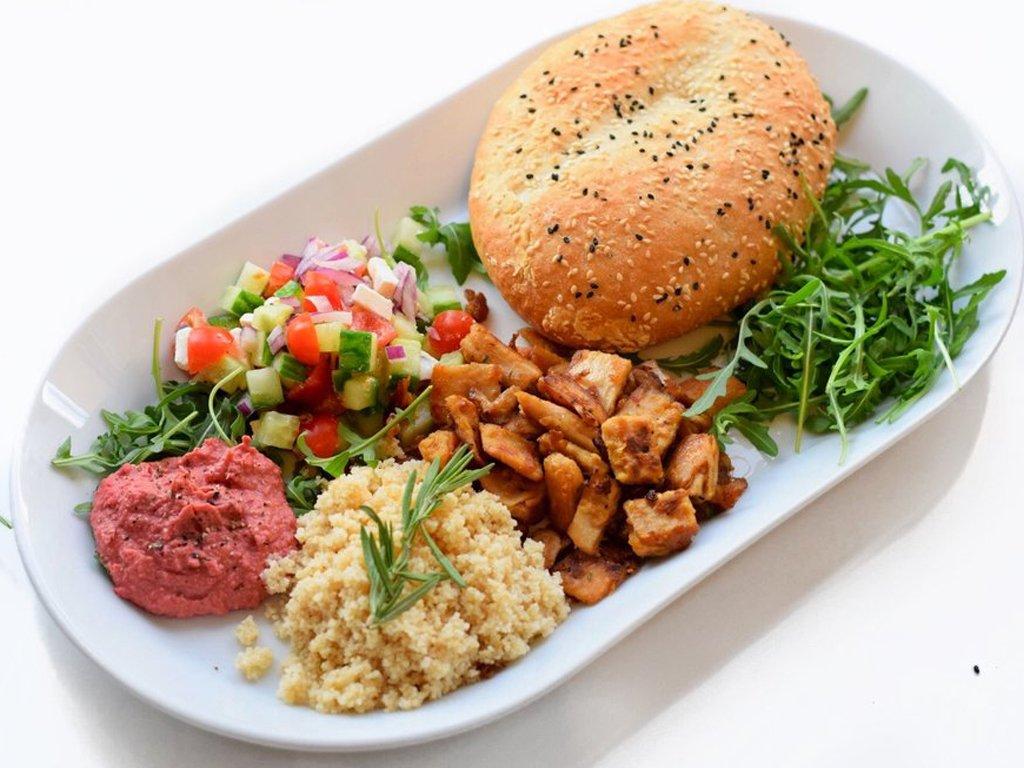 Vegetarische shoarma shotel | Vegetarisch recept | Healthy Wanderlust