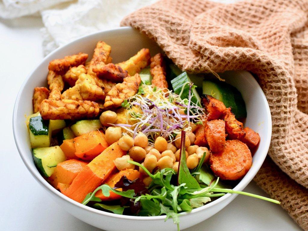 Vegetarische buddha bowl | Gezond recept | Healthy Wanderlust