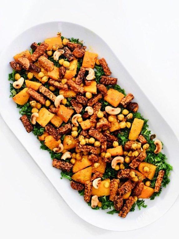 Boerenkool salade met pompoen | Lekker recept | Healthy Wanderlust