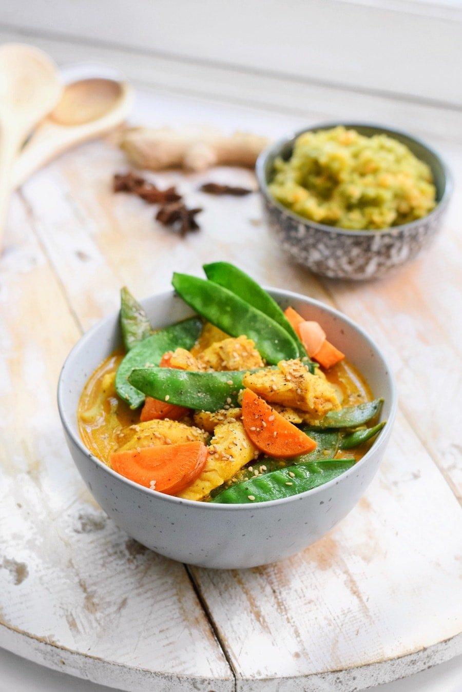 Gele curry recept | Makkelijke maaltijd | Healthy Wanderlust