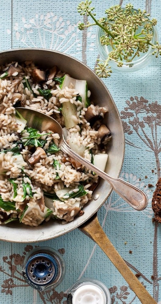 Paddenstoelenrisotto | Lekker risotto recept | Healthy Wanderlust