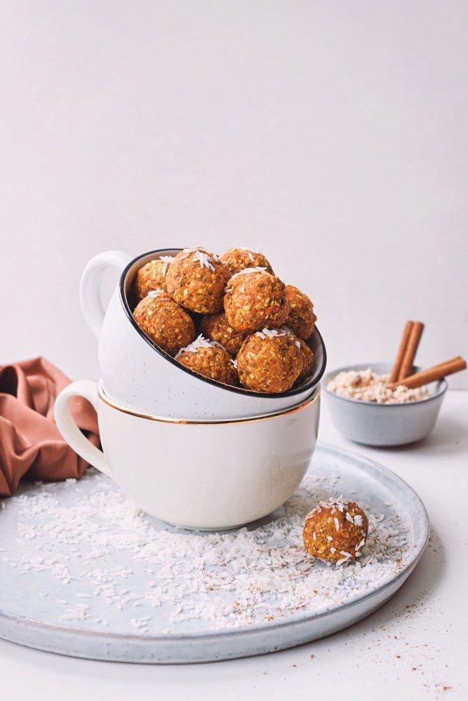 Carrot cake energie balletjes | Bliss balls als gezonde snack