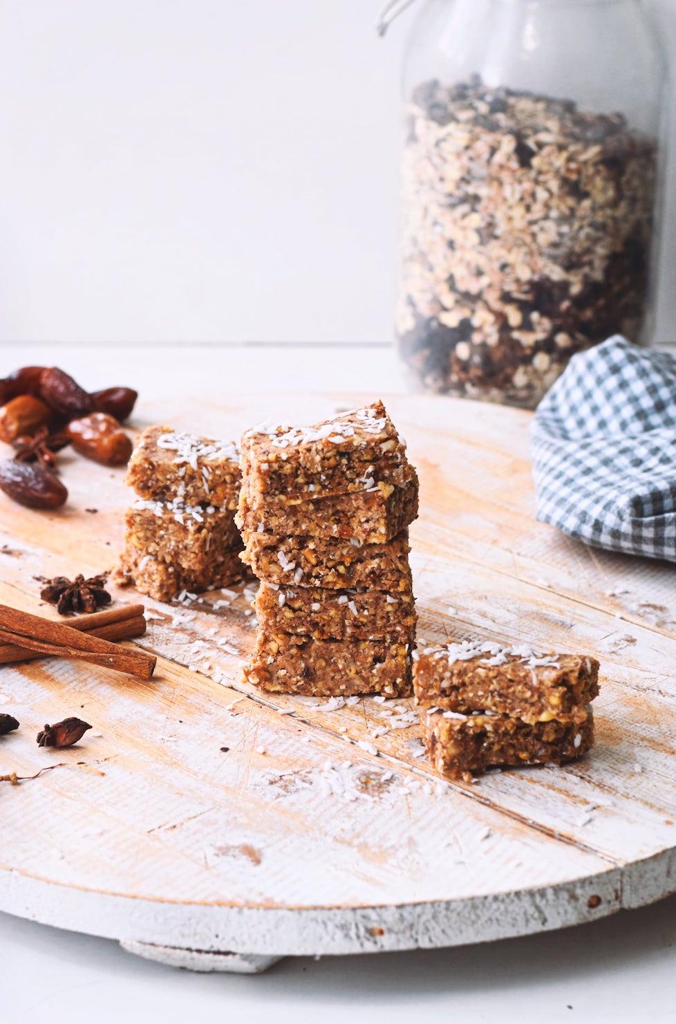 No bake energie repen   Gezond snack recept